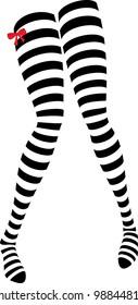 Unique vector design of striped stockings.