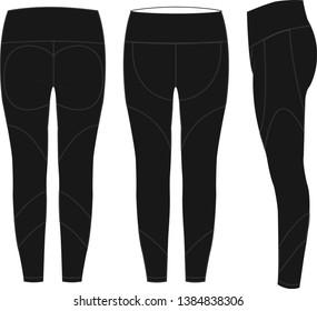 Unisex Sports Trouser Flat Illustration