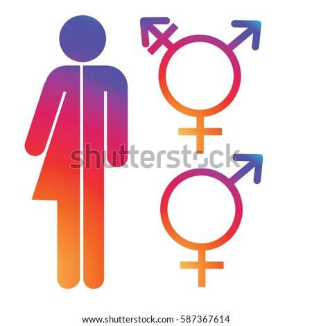 Unisex Symbol Icon Collection Male