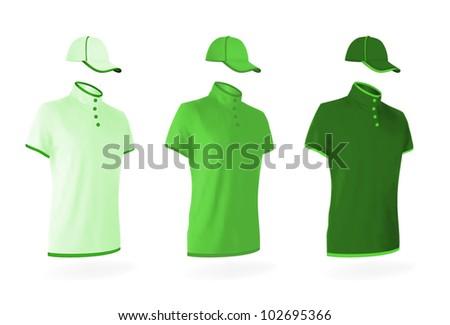 unisex uniform template set polo shirts stock vector royalty free