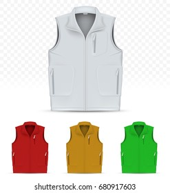 Unisex vest isolated on white background
