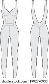 unitard Bodysuit Catsuit vector illustration