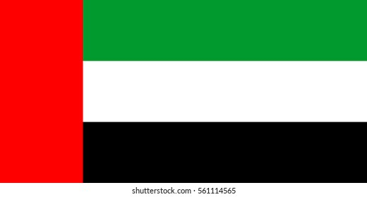 United Arab Emirates flag isolated vector in official colors and proportion. original and simple of the United Arab Emirates flag isolated vector in official colors and Proportion Correctly