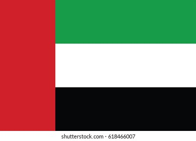 United Arab Emirates Flag page symbol for your web site design United Arab Emirates flag logo, app, UI. United Arab Emirates flag Vector illustration, EPS10.