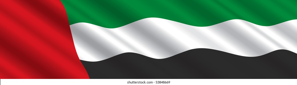 United Arab Emirates Flag in the Wind
