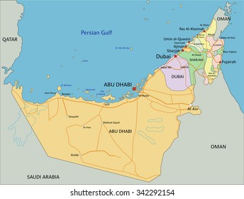 Uae map images stock photos vectors shutterstock united arab emirates highly detailed editable political map with labeling gumiabroncs Choice Image