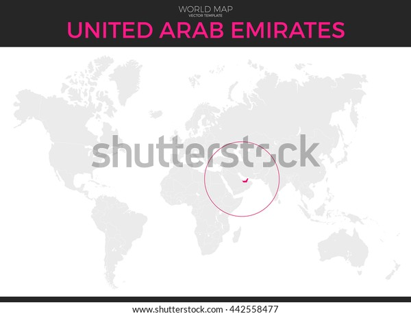 United Arab Emirates Location Modern Detailed Stock Vector Royalty Free 442558477