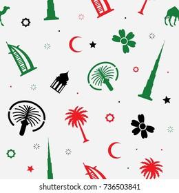 United Arab Emirates seamless pattern style. Vector Illustration