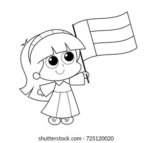 United Arab Emirates UAE National Day Celebration Coloring Page