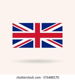 United Kingdom or Britain flag. Vector Illustration
