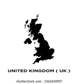 united kingdom - europe map icon vector