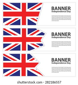 united kingdom Flag banners collection independence day
