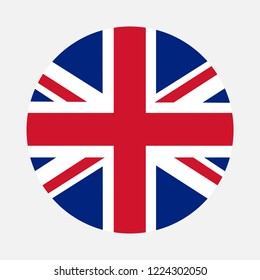 United Kingdom flag circle, Vector image and icon