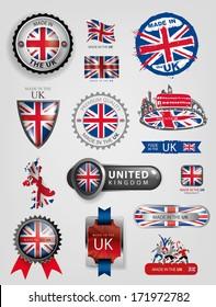 United Kingdom Flag, England Seals, Artwork (Vector)