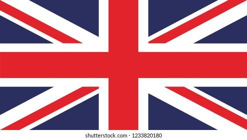 United Kingdom Flag. Flag of the Great Britain, British flag vector .