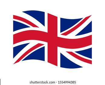 United Kingdom flag. Great Britain national symbol. British flag. Vector illustration.