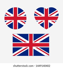 United Kingdom Flag icon sign template color editable. Great Britain national symbol vector illustration for graphic and web design.