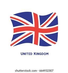United Kingdom flag icon. Union Jack. Great Britain symbol.