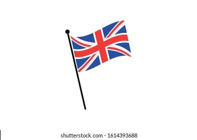 united kingdom flag icon,Uk waving flag icon illustrator