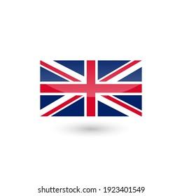 United Kingdom flag label sticker badge Great Britain national vector illustration.
