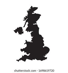 united kingdom flag map design vector illustration