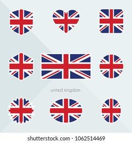United Kingdom flag. National flag of United Kingdom. United Kingdom vector flag button. United Kingdom independence day.