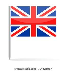 United Kingdom Flag Pin Vector Icon - Illustration