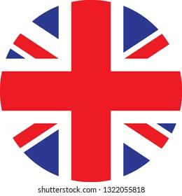 United Kingdom  flag. Simple vector round United Kingdom  flag