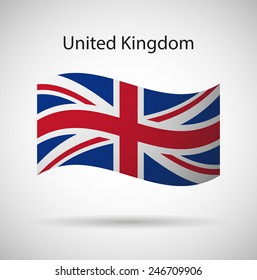 United Kingdom flag vector art  illustration