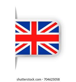 United Kingdom Flag Vector Bookmark Icon - Illustration