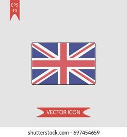 United kingdom flag vector icon, illustration symbol