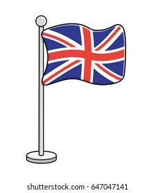 United Kingdom flag vector isolated. Great Britain Union Jack.