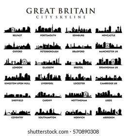 United Kingdom - Great Britain Cities - City Tour Skyline