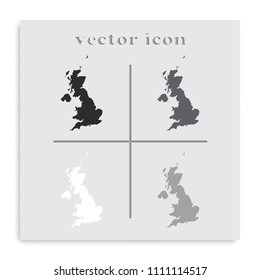 United Kingdom of Great Britain and Northern Ireland simple black and white vector map.