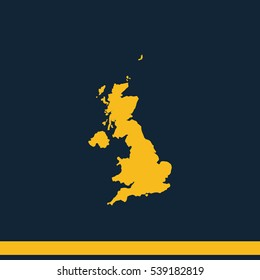 United Kingdom of Great Britain and Northern Ireland simple map.