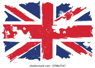 United Kingdom, grunge flag, Illustration