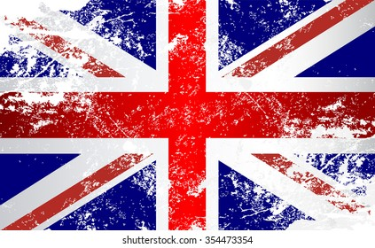 United Kingdom Grunge Texture Flag. Grunge effect can be cleaned easily.