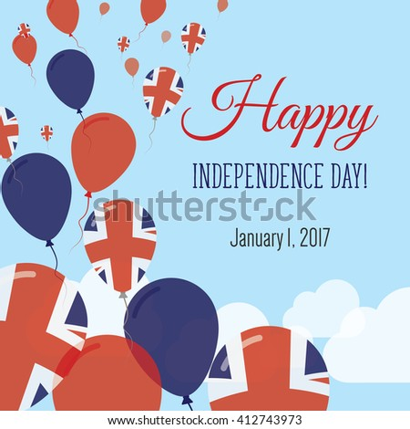 United kingdom independence day greeting card stock vector royalty united kingdom independence day greeting card flying flat balloons in national colors of united kingdom m4hsunfo