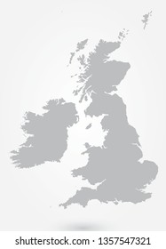 United Kingdom Infographic Element, UK, Great Britain Map, Border - Vector