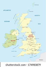 united kingdom- ireland map