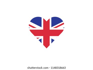 United Kingdom love heart shape romantic symbol