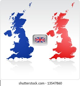 United Kingdom Map and Flag