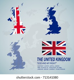 The United Kingdom map and flag.(EPS10 Art vector)