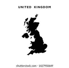 United kingdom map icon vector illustration