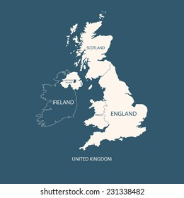 UNITED KINGDOM MAP, UK MAP