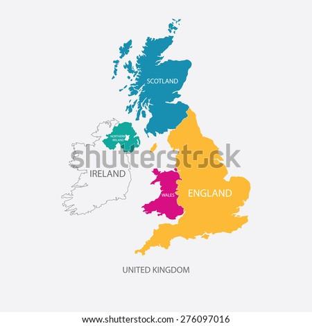Uk Map Images.United Kingdom Map Uk Map Borders Stock Vector Royalty Free