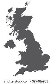 united kingdom map . Vector