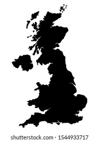 United Kingdom Map Vector illustration eps 10