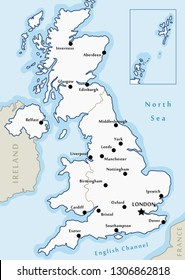 Map Of England Showing Major Cities.Ilustraciones Imagenes Y Vectores De Stock Sobre Southampton Map
