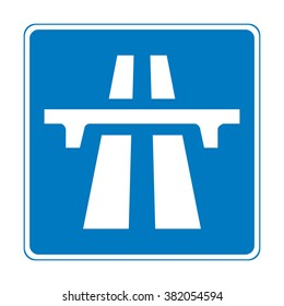 United Kingdom Motorway Sign